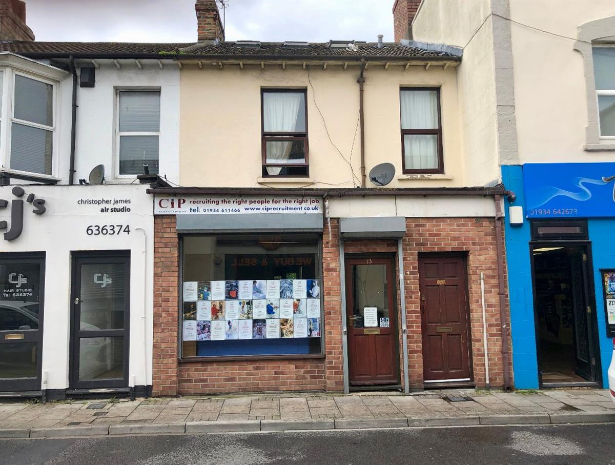 13 Orchard St, Ground floor commercial premises with outside space below a 4 bed residential maisonette